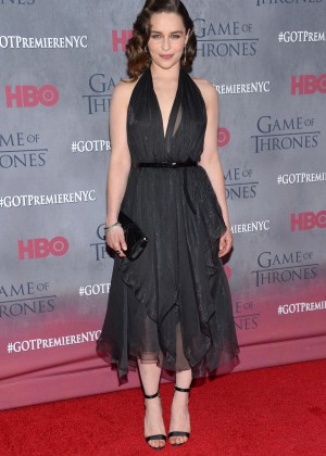 Emilia Clarke: Game of Thrones NY Premiere -02