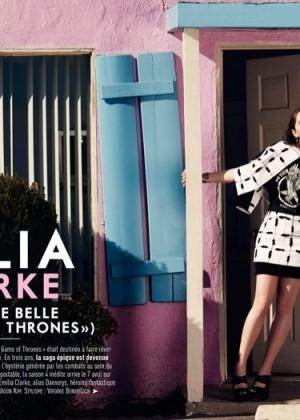 Emilia Clarke: Glamour Paris -05