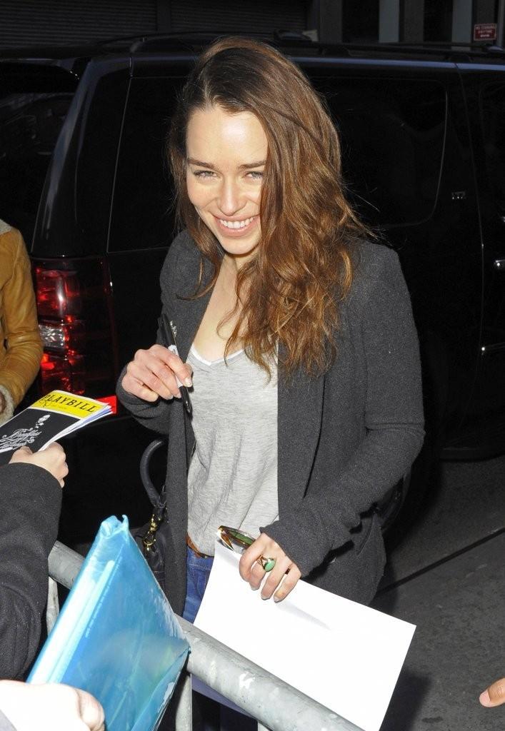 Emilia Clarke 2013 : Emilia Clarke Outside The Theatre in NYC -02