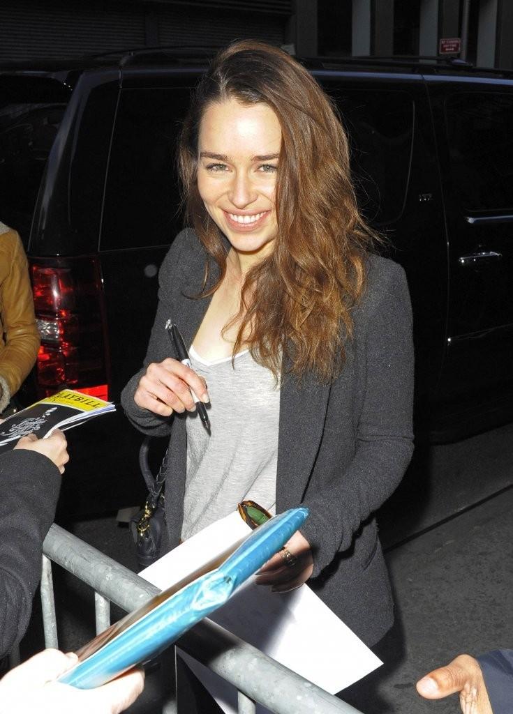 Emilia Clarke 2013 : Emilia Clarke Outside The Theatre in NYC -04