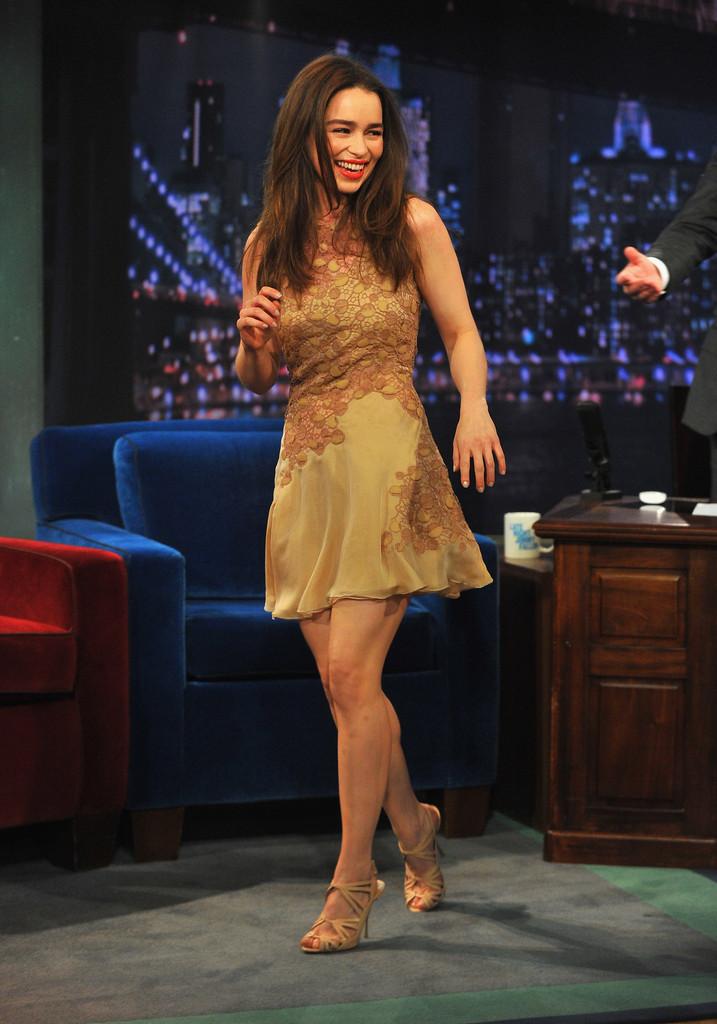 Emilia Clarke 2013 : Emilia Clarke – visits Late Night with Jimmy Fallon -02