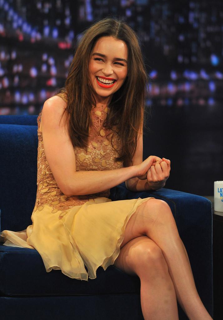Emilia Clarke 2013 : Emilia Clarke – visits Late Night with Jimmy Fallon -04