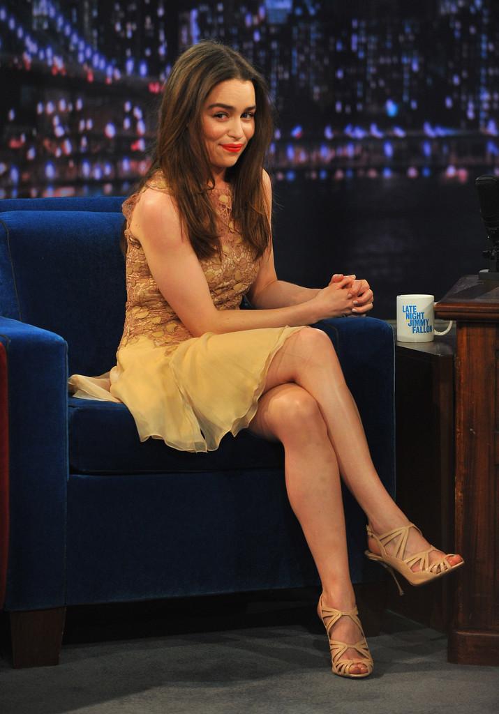 Emilia Clarke 2013 : Emilia Clarke – visits Late Night with Jimmy Fallon -05