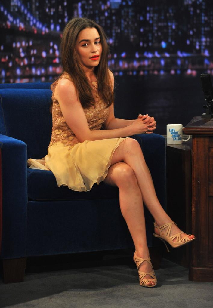 Emilia Clarke 2013 : Emilia Clarke – visits Late Night with Jimmy Fallon -06