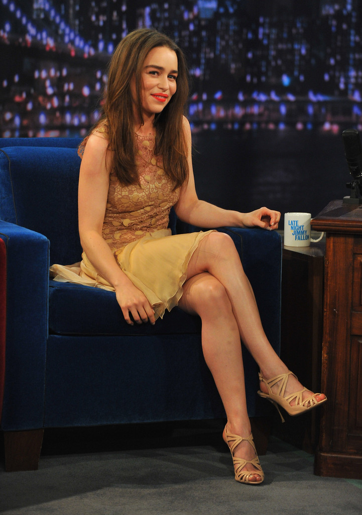 Emilia Clarke 2013 : Emilia Clarke – visits Late Night with Jimmy Fallon -07