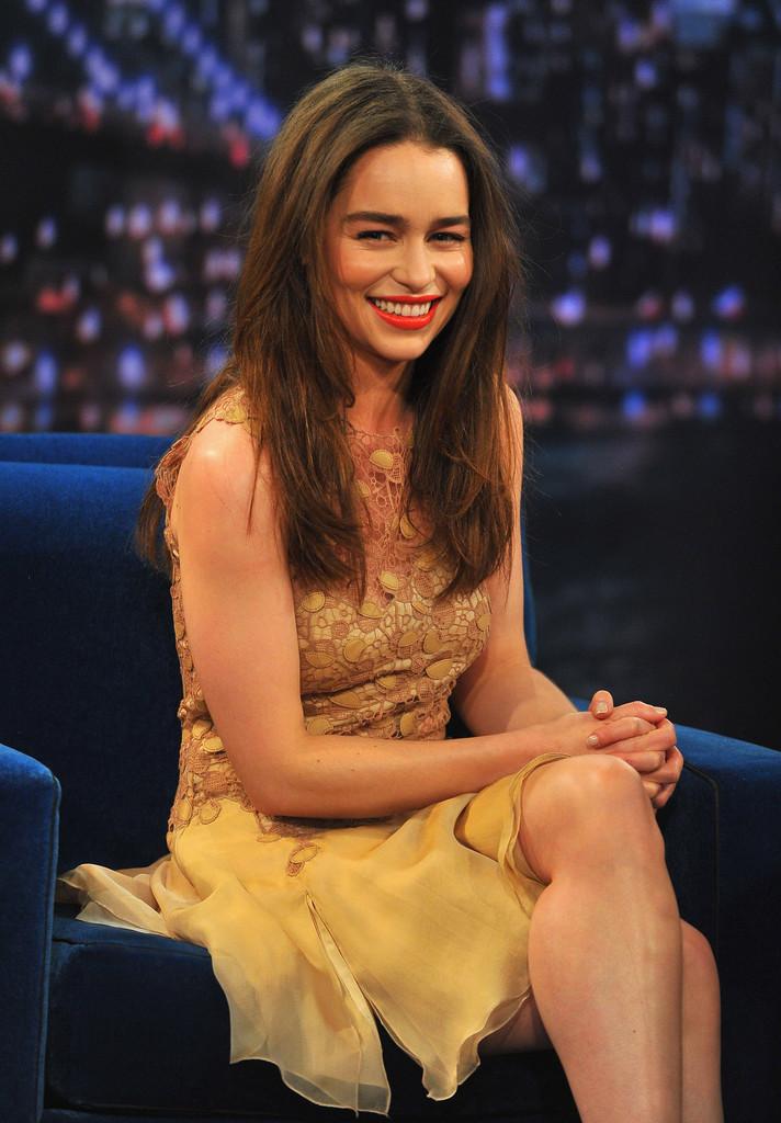 Emilia Clarke 2013 : Emilia Clarke – visits Late Night with Jimmy Fallon -08