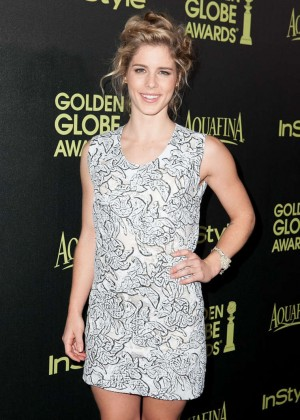 Emily Bett Rickards - HFPA & InStyle Celebrate 2015 Golden Globe Award Season in West Hollywood