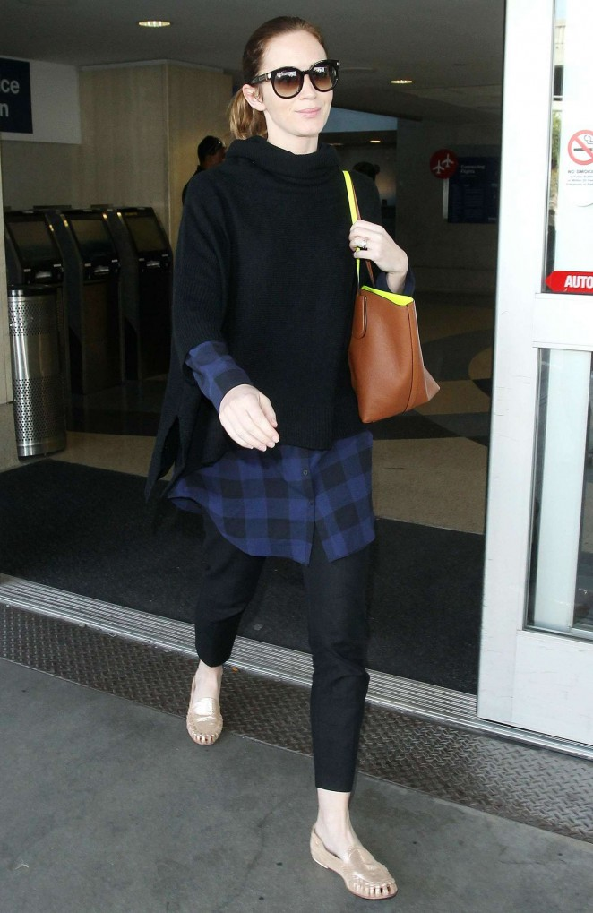 Emily Blunt at LAX airport in LA