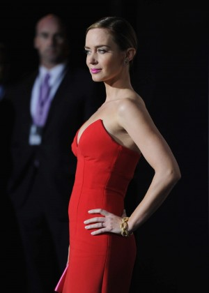 Emily Blunt Red Dress -01