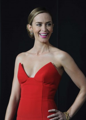 Emily Blunt Red Dress -03