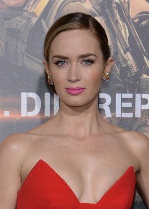 Emily Blunt Red Dress -05