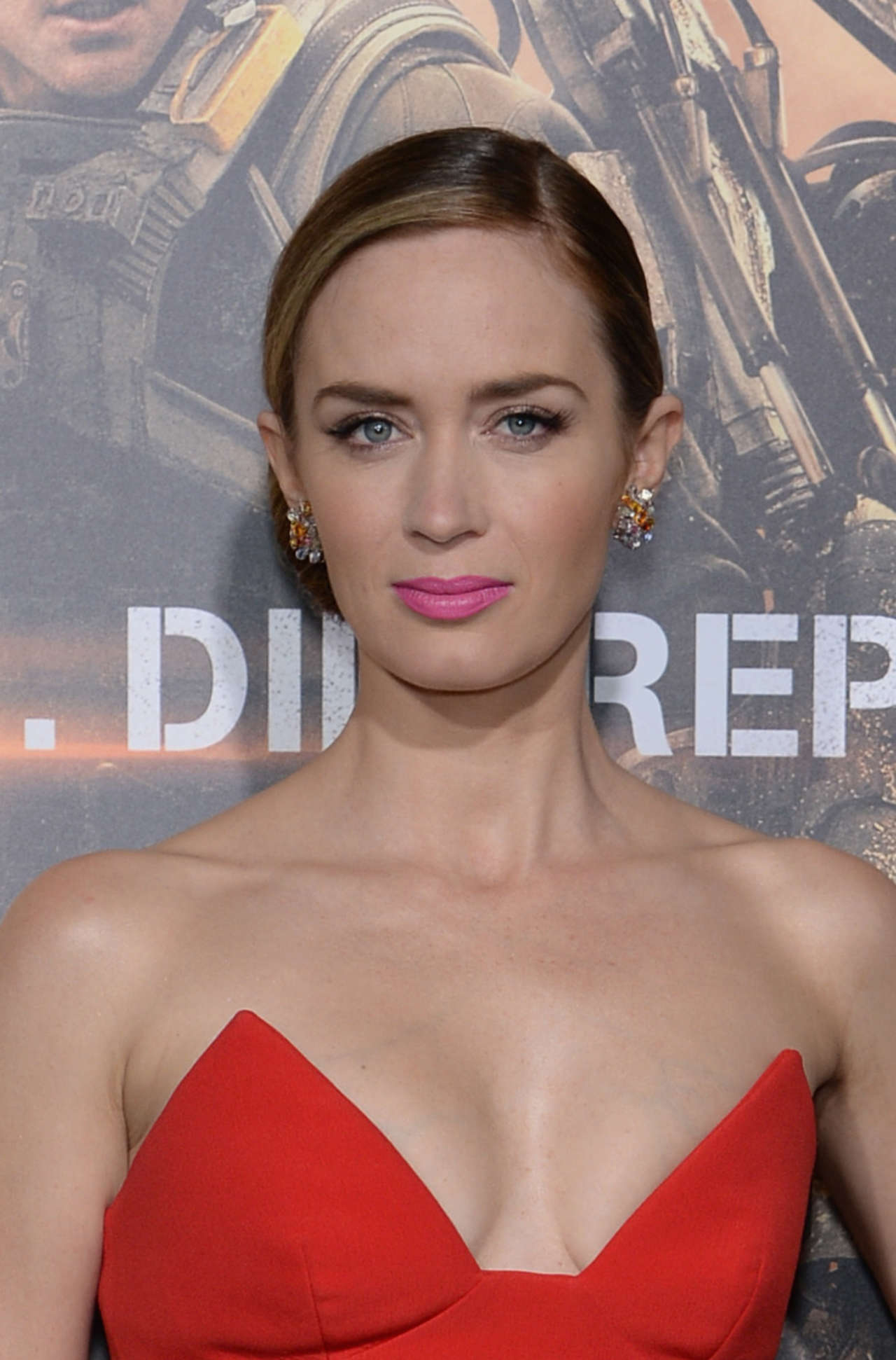 Emily Blunt Red Dress 05 Gotceleb