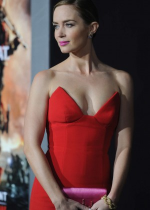 Emily Blunt Red Dress -06