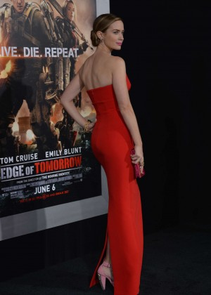 Emily Blunt Red Dress -07