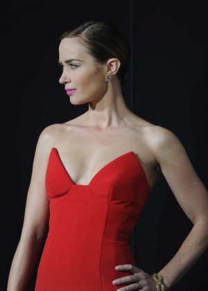 Emily Blunt Red Dress -09