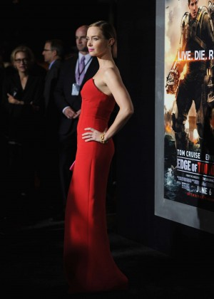Emily Blunt Red Dress -10