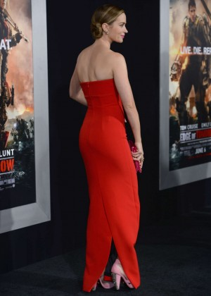 Emily Blunt Red Dress -12