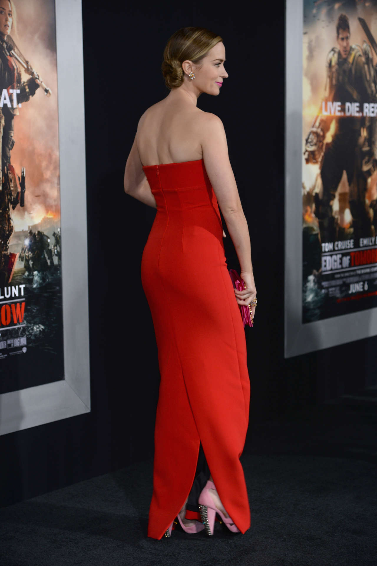 Emily Blunt Red Dress -12 - GotCeleb