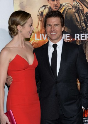 Emily Blunt Red Dress -15