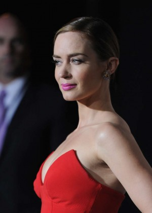 Emily Blunt Red Dress -17