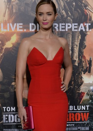 Emily Blunt Red Dress -18