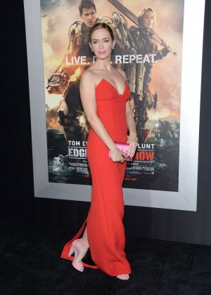 Emily Blunt Red Dress -19