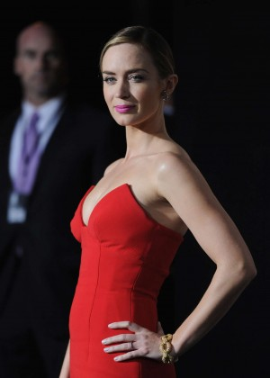 Emily Blunt Red Dress -20