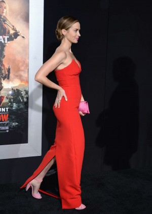 Emily Blunt Red Dress -21