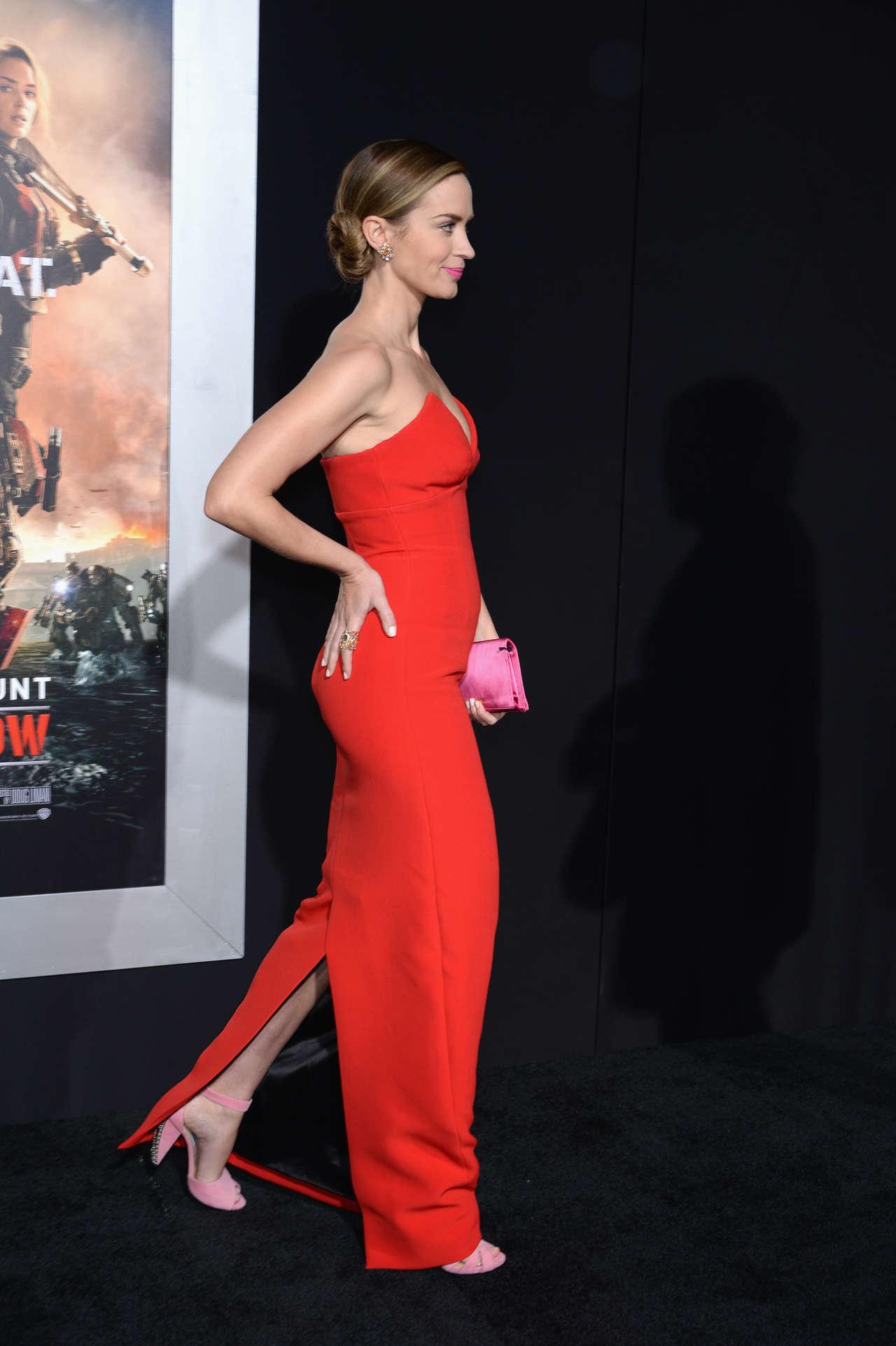 Emily Blunt Red Dress 21 Gotceleb