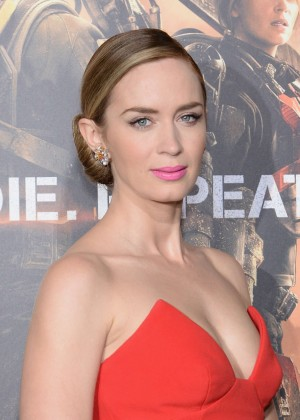 Emily Blunt Red Dress -22