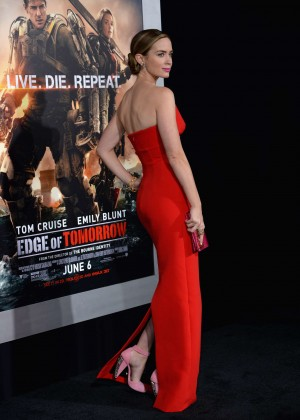 Emily Blunt Red Dress -23