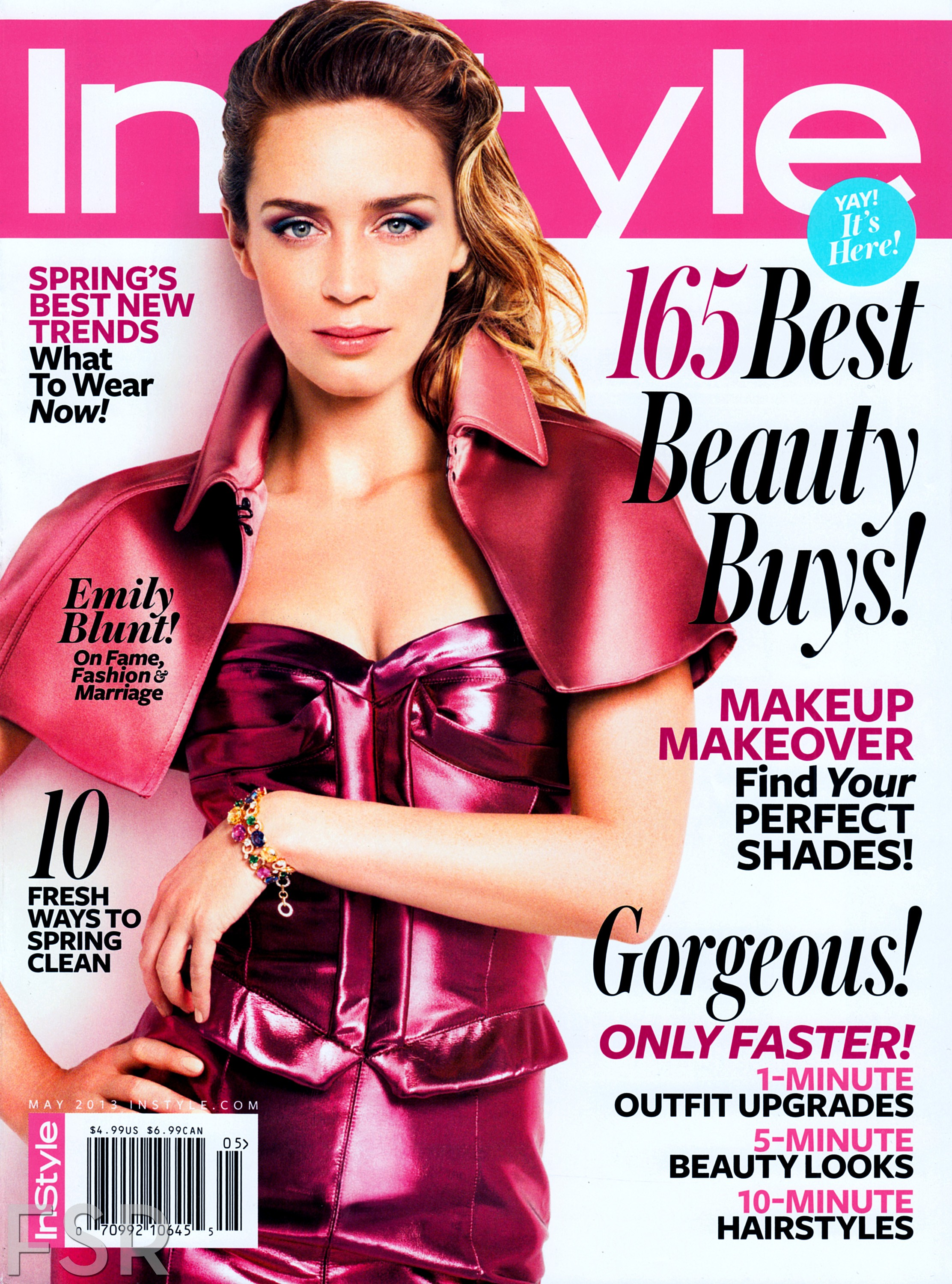 Emily Blunt Instyle Cover May 2013
