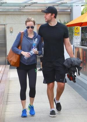 Emily Blunt Leaving Gym In Hollywood Gotceleb