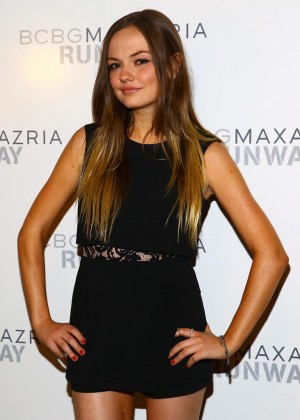 Emily Meade - BCBGMAXAZRIA Fashion Show in NY