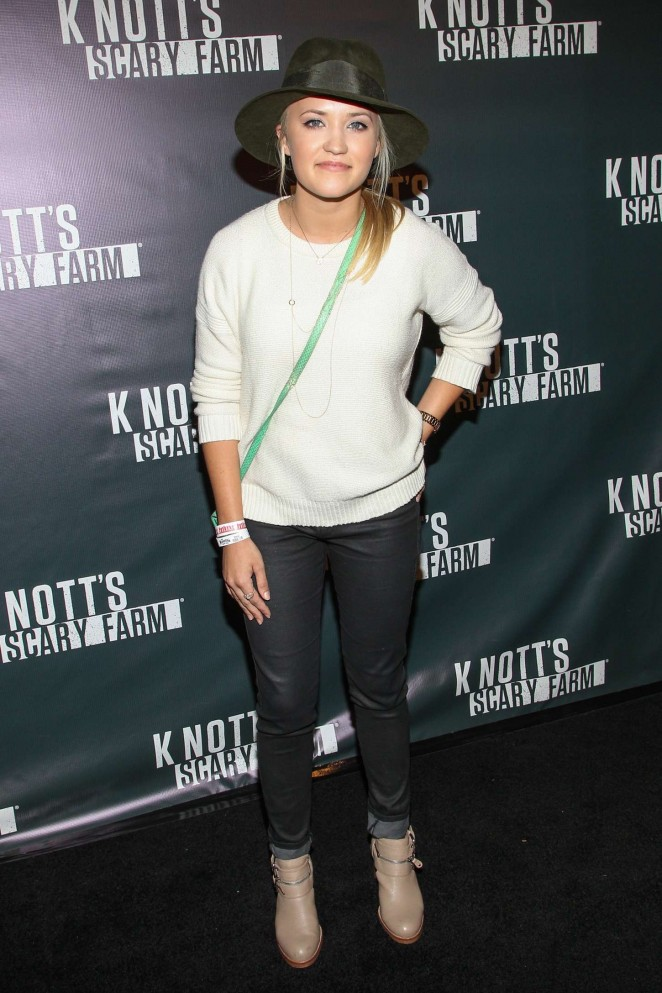 Emily Osment: Knotts Scary Farm Opening Night -04