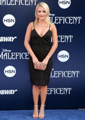Emily Osment black dress -02