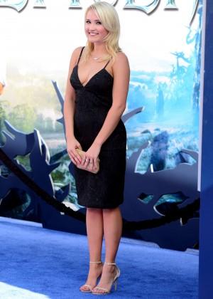 Emily Osment black dress -06