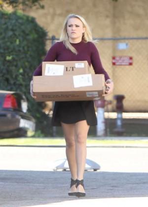 Emily Osment in Mini Dress -09