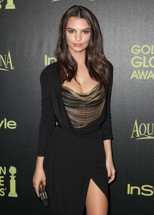 Emily Ratajkowski - HFPA & InStyle Celebrate 2015 Golden Globe Award Season in West Hollywood