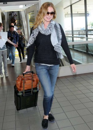Emily VanCamp in Jeans at LAX Airport in LA