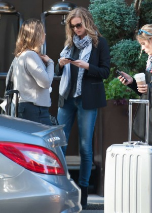 Emily VanCamp in jeans out in NYC