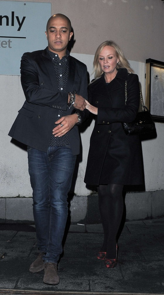 Emma Bunton In Black Outfit at Gilgamesh Restaurant in Camden