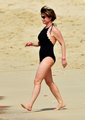 Emma Forbes in Black Swimsuit -01