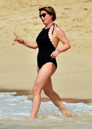 Emma Forbes in Black Swimsuit -02