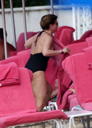 Emma Forbes in Black Swimsuit -05