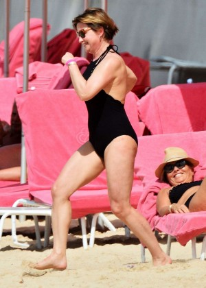 Emma Forbes in Black Swimsuit -11