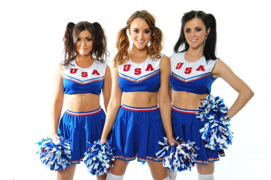 Emma Glover – Rosie Jones and India Reynolds – Cheerleaders – American Pie Photoshoot-05