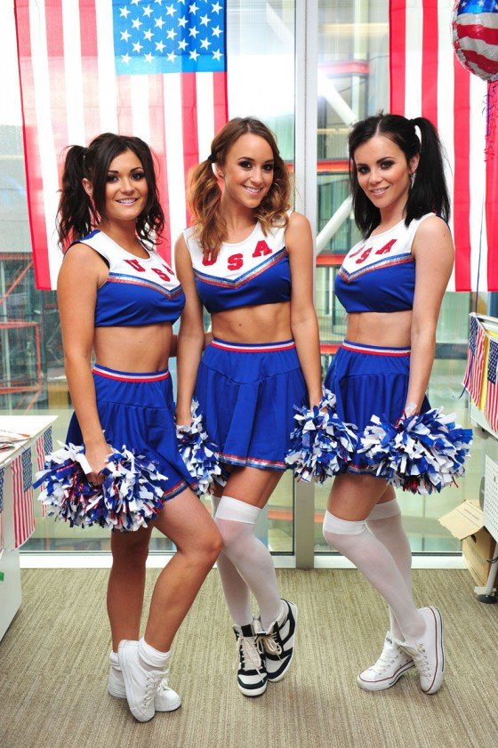 Emma Glover – Rosie Jones and India Reynolds – Cheerleaders – American Pie Photoshoot-06