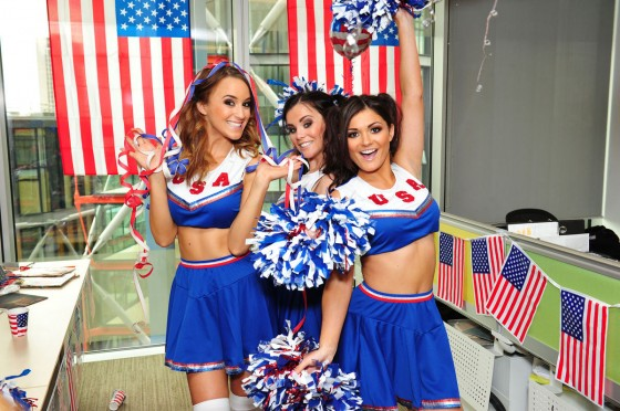Emma Glover – Rosie Jones and India Reynolds – Cheerleaders – American Pie Photoshoot-30