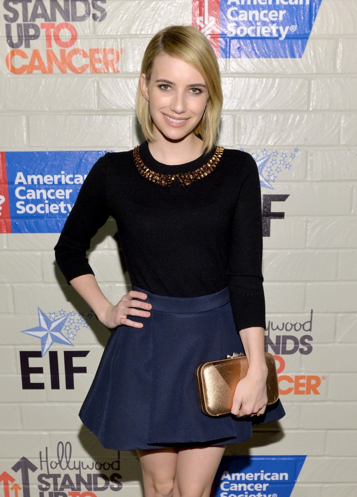 Emma Roberts: 2014 Hollywood Stands Up To Cancer Event -03